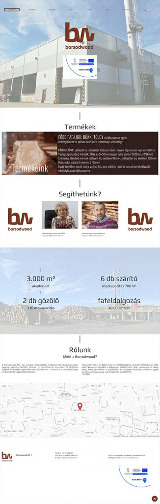 weblapkészítési referencia - borsodwood.com