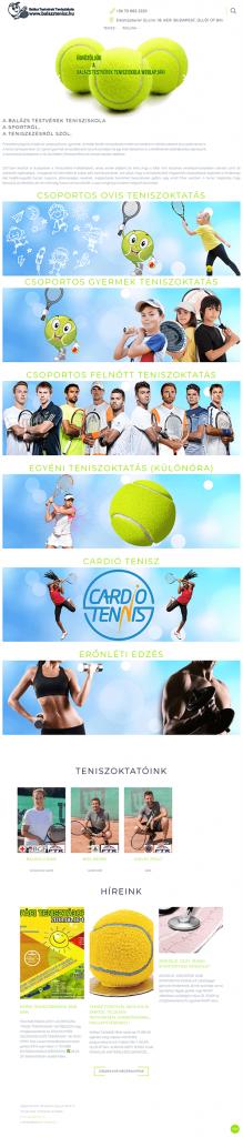weblapkészítési referencia - teniszoktatas.com