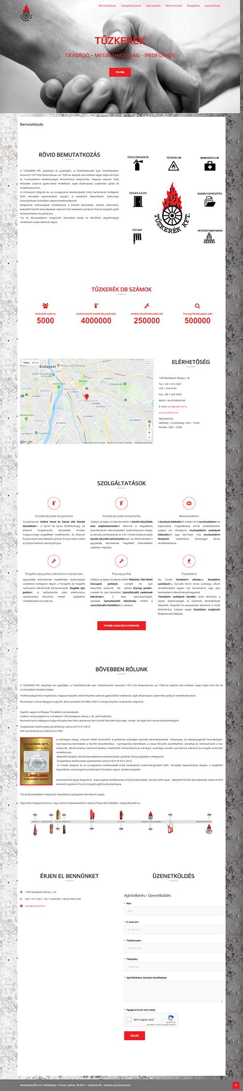 weblapkészítési referencia - tuzkerek.hu