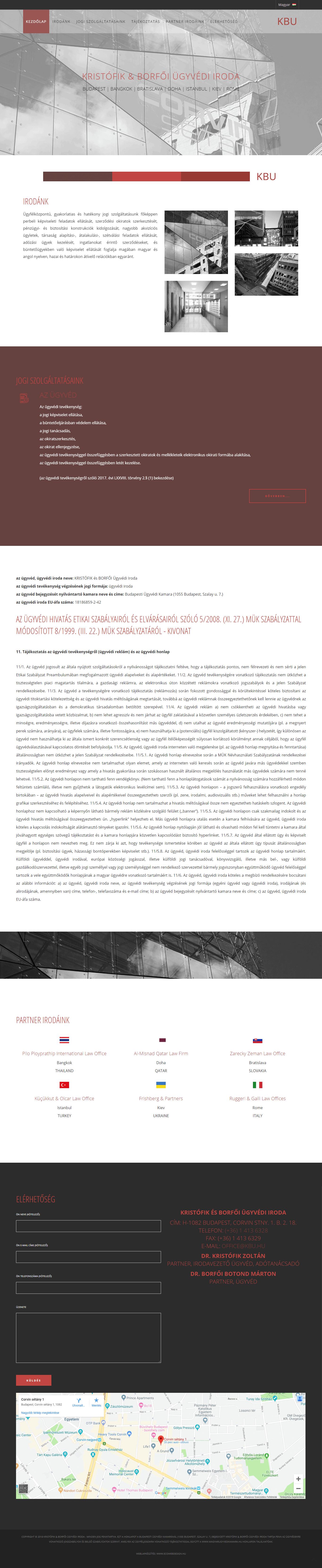 weblapkészítési referencia - kbu.hu